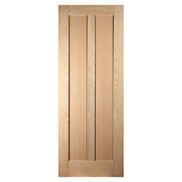 Vertical 2 Panel Oak Veneer Internal Unglazed Door,