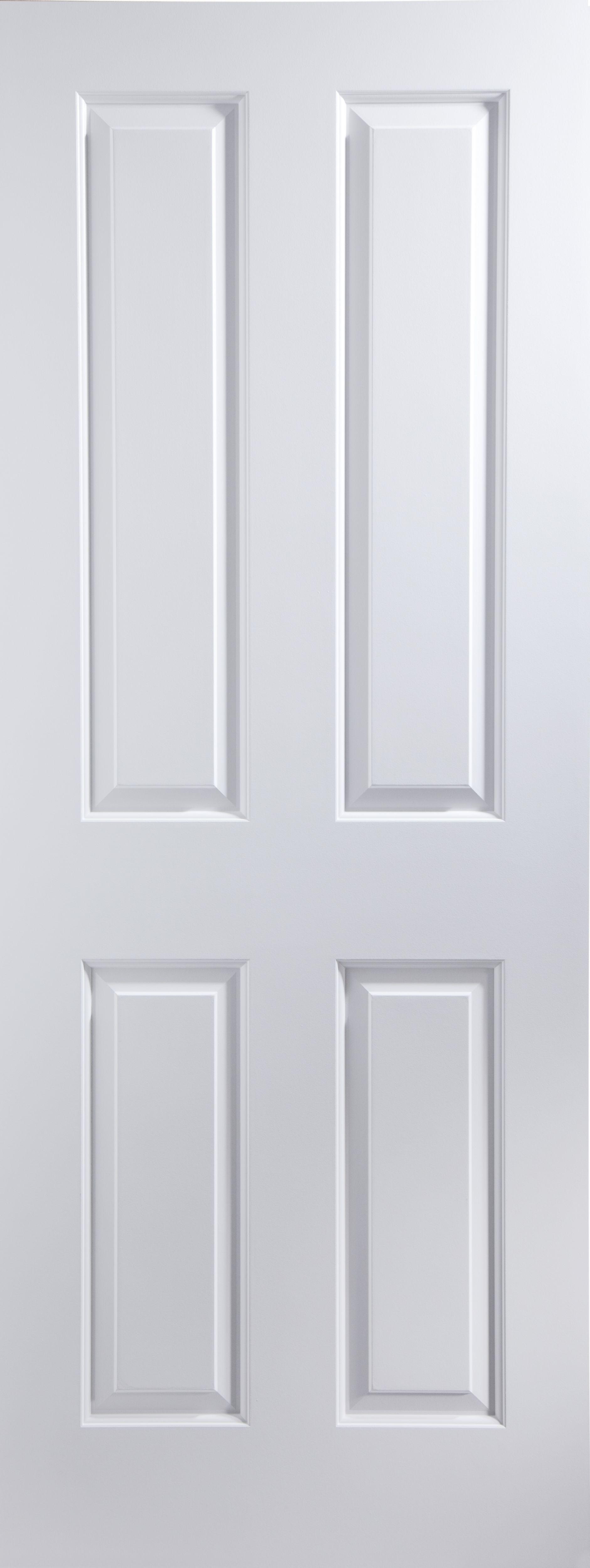 4 panel pre painted white woodgrain internal unglazed door. Black Bedroom Furniture Sets. Home Design Ideas