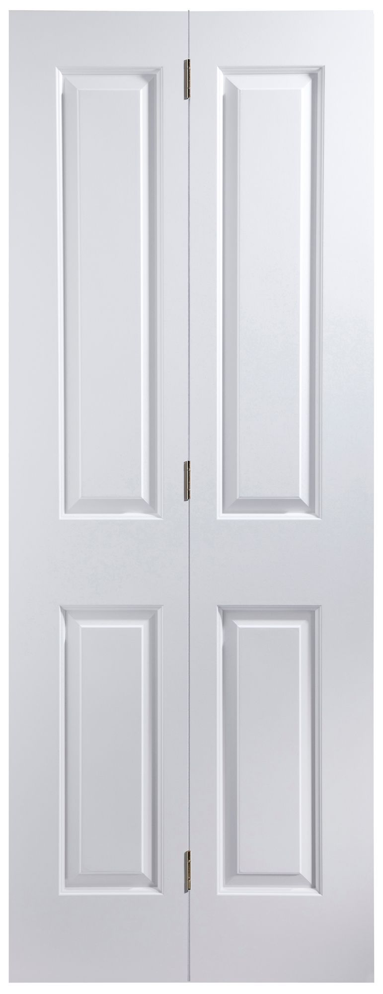 4 Panel Primed Smooth Glazed Internal Bi-fold Door, (h)1950mm (w)750mm