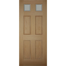 Henley 6 Panel White Oak Veneer Glazed Front