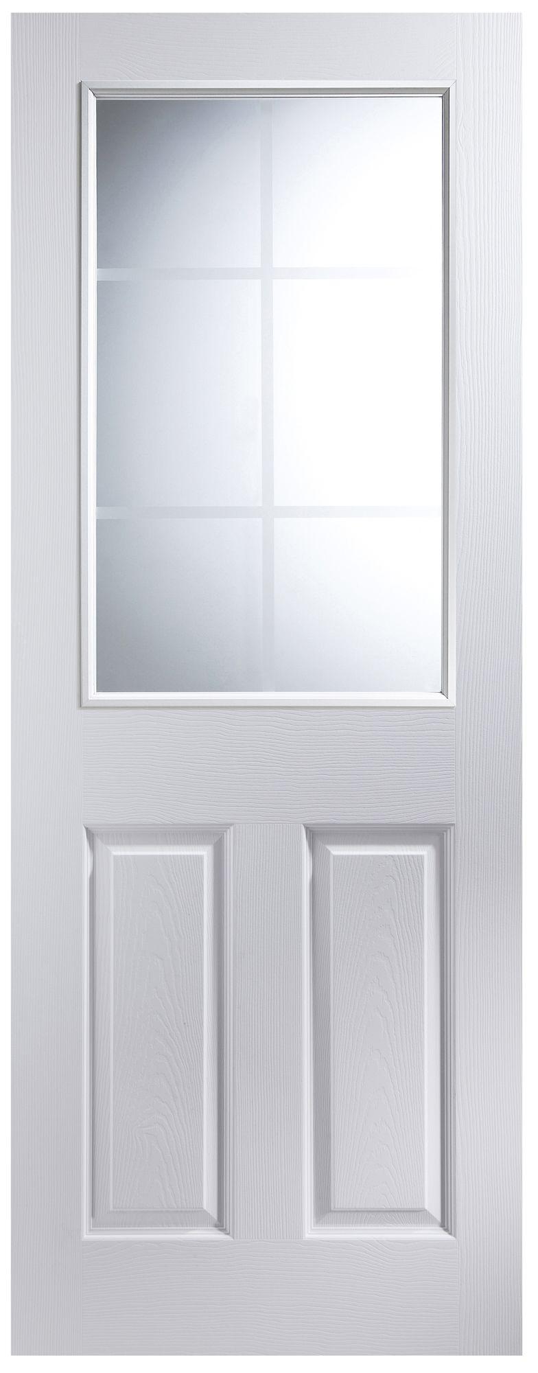 6 panel primed smooth internal unglazed door h 2040mm w. Black Bedroom Furniture Sets. Home Design Ideas