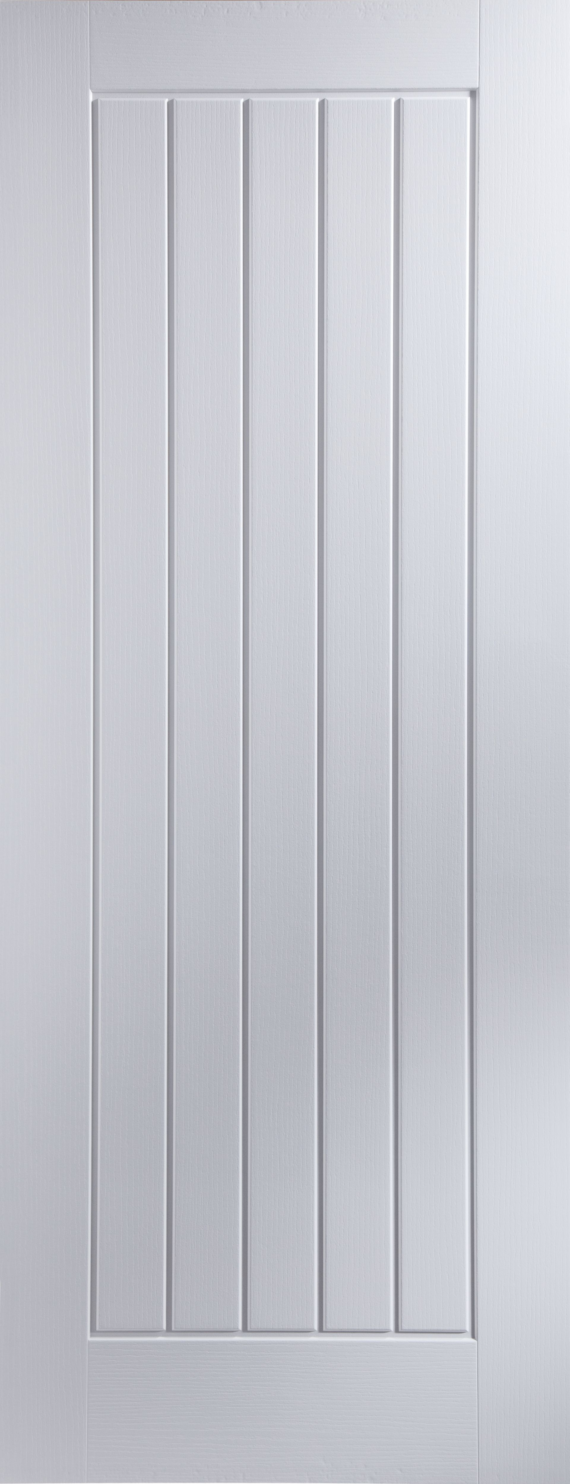 Cottage Panel Primed Woodgrain Unglazed Internal Standard Door (H)1981mm (W)762mm | Departments | DIY at B\u0026Q