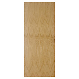 Flush Oak Veneer Internal Fire Door, (H)1981mm (W)686mm