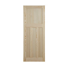 Traditional Clear Pine Unglazed Internal Standard Door, (H)1981mm