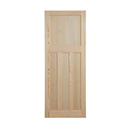 Traditional Panelled Clear Pine Internal Unglazed Door, (H)1981mm