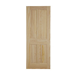 4 Panel Clear Pine Internal Fire Door, (H)2040mm
