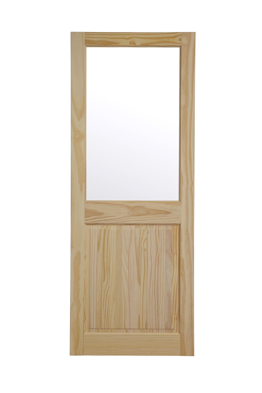 2 Panel Clear Pine Glazed Internal Door, (h)1981mm (w)762mm