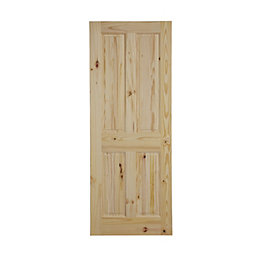 4 Panel Knotty Pine Internal Fire Door, (H)1981mm