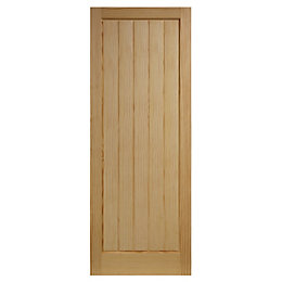 Cottage Panelled Clear Pine Internal Unglazed Door, (H)1981mm