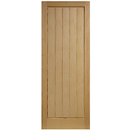Cottage Panel Clear Pine Unglazed Internal Standard Door,