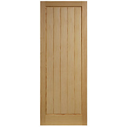 Cottage Panelled Clear Pine Internal Unglazed Door, (H)2040mm