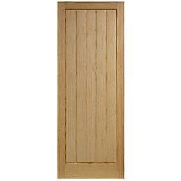 Cottage Panelled Clear Pine Internal Unglazed Door, (H)2040mm
