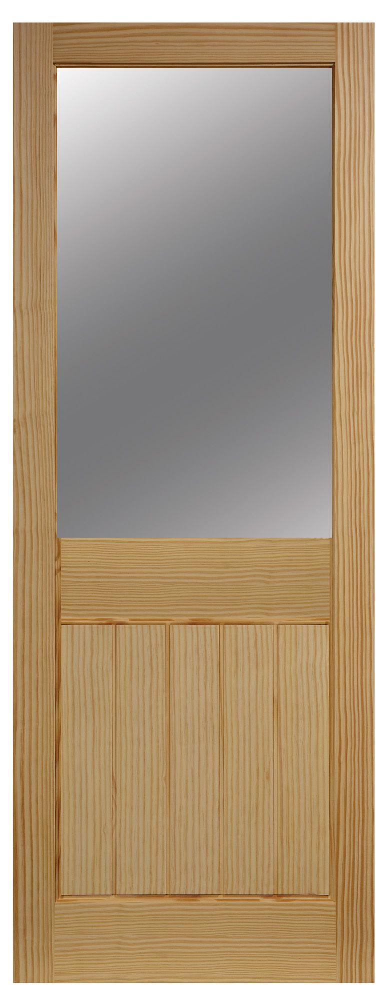 Cottage 2 Panel Clear Pine Glazed Internal Standard Door, (h)1981mm (w)762mm
