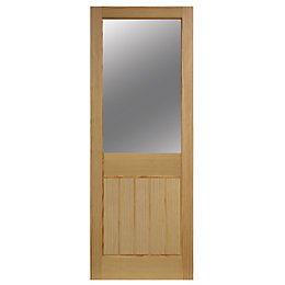 Cottage 2 Panel Clear Pine Glazed Internal Door,
