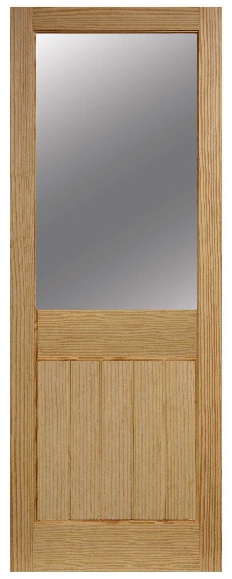 Cottage 2 Panel Clear Pine Glazed Internal Standard Door, (h)1981mm (w)838mm