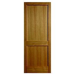 2 Panel Oak Veneer Internal Unglazed Door, (H)1981mm