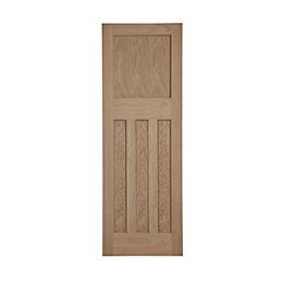 Traditional Panelled Oak Veneer Internal Unglazed Door, (H)1981mm