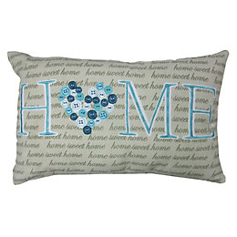 Poloni Home Blue & Cream Cushion