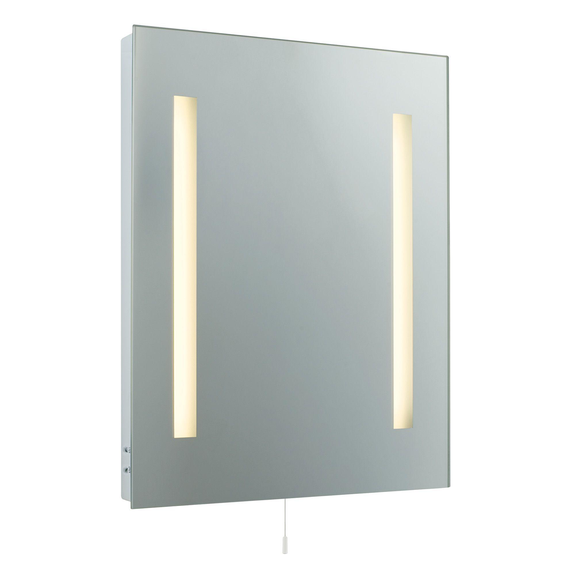 Cooke lewis danube illuminated bathroom rectangular for B q bathroom mirrors