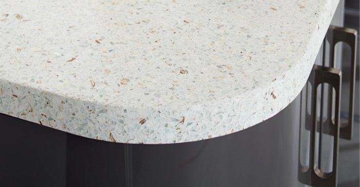 square edge curved worktop profile