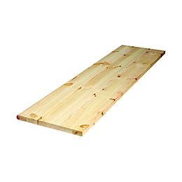Diall Spruce Furniture Board (L)1150mm (W)200mm (T)22mm