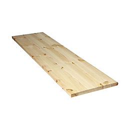 Diall Spruce Furniture Board (L)1750mm (W)300mm (T)22mm