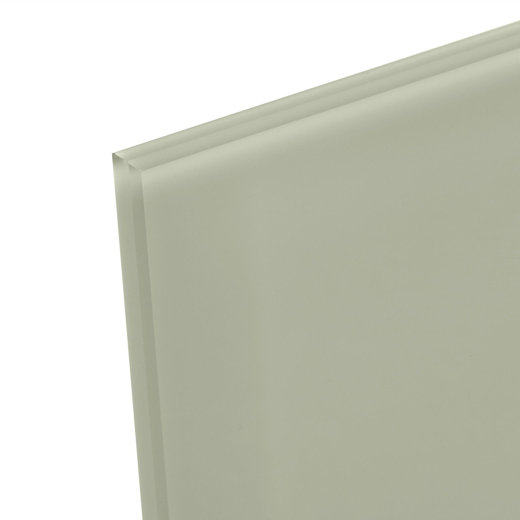 6mm Alep Green & Light Grey Glass Splashback