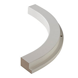 Cooke & Lewis High Gloss White Quadrant Curved