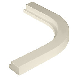 Cooke & Lewis High Gloss Cream Quadrant Cornice