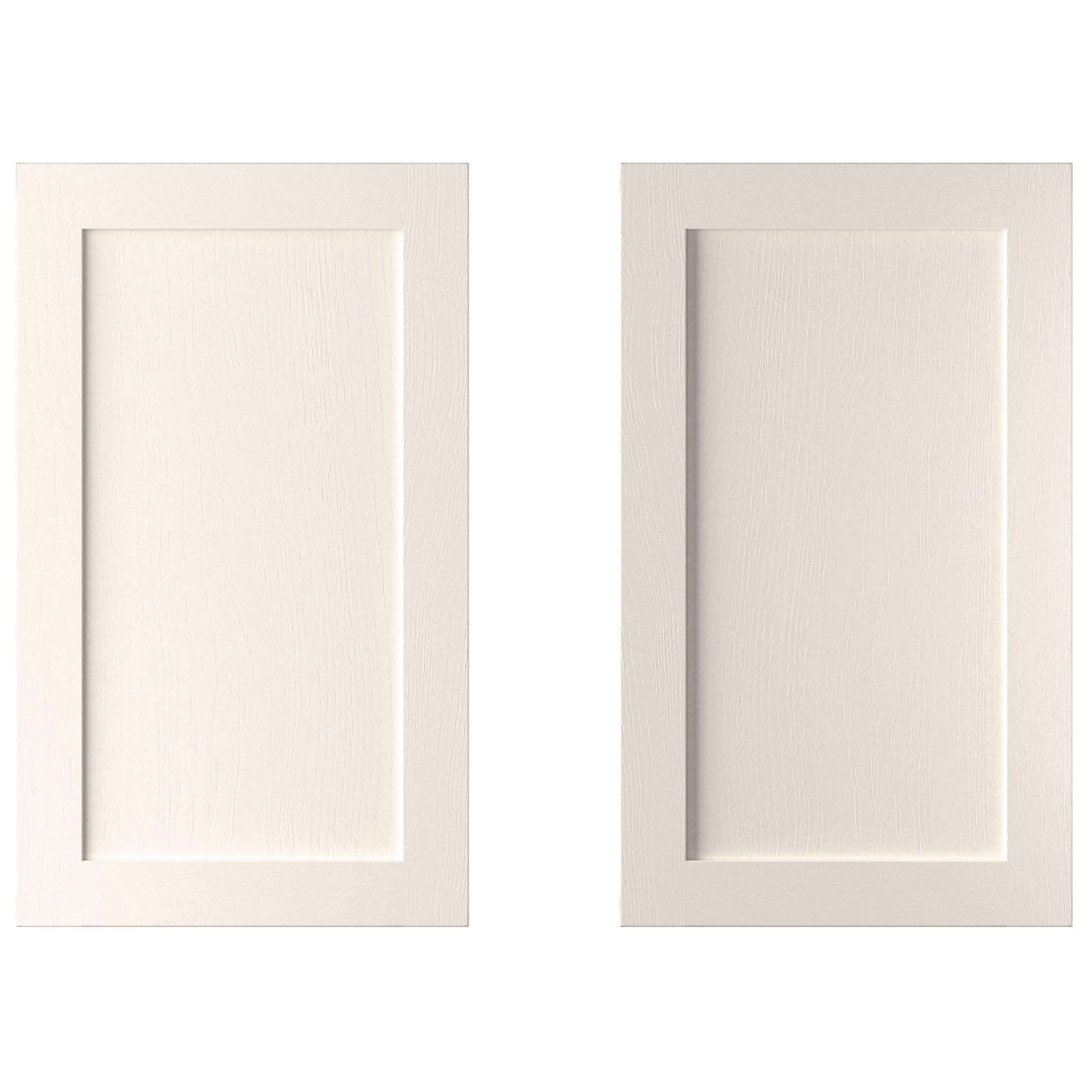 Cooke & Lewis Carisbrooke Ivory Larder Door (w)600mm, Set Of 2