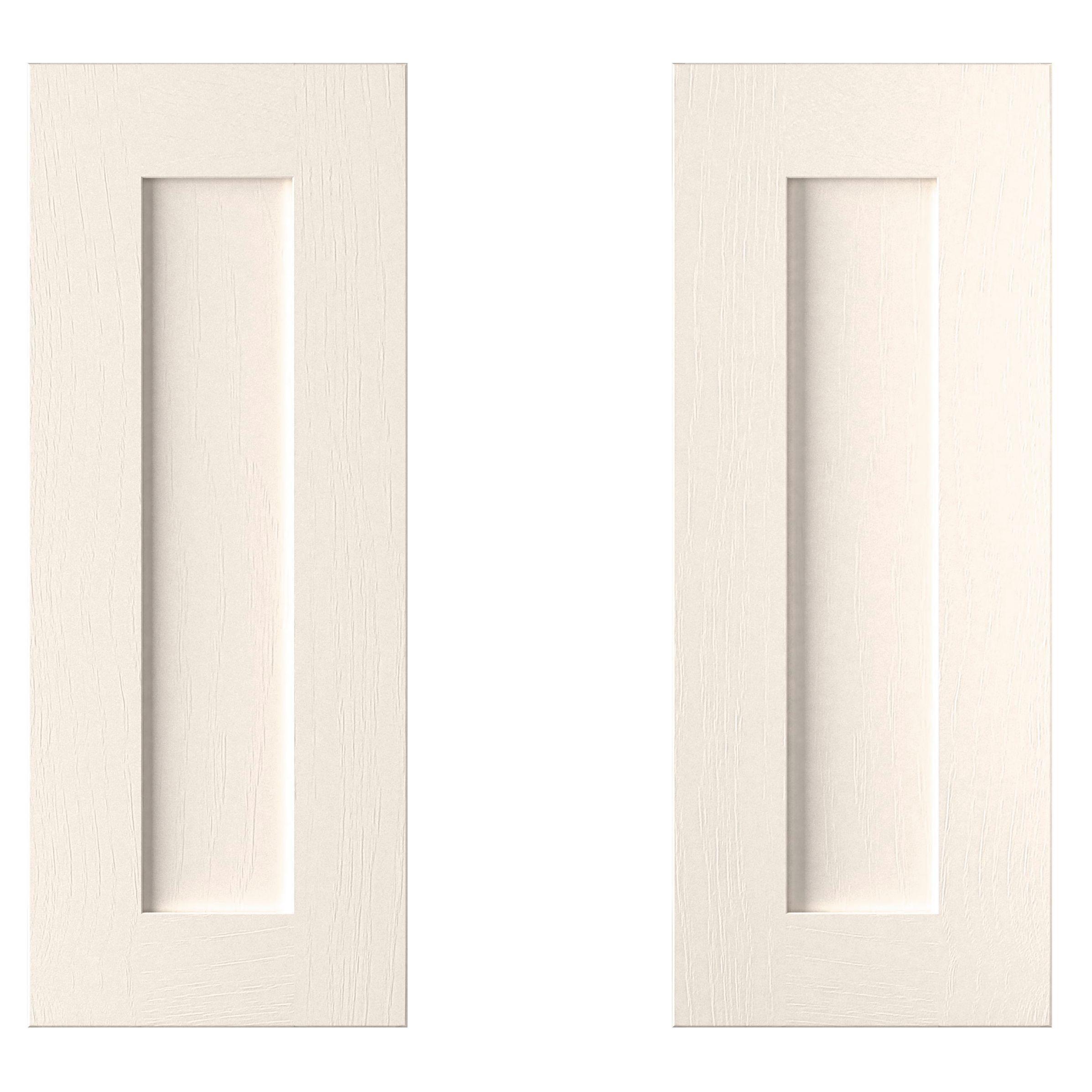 Cooke & Lewis Carisbrooke Ivory Corner Base Door (w)925mm, Set Of 2