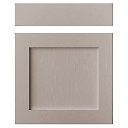 Cooke & Lewis Carisbrooke Taupe Drawerline Door &