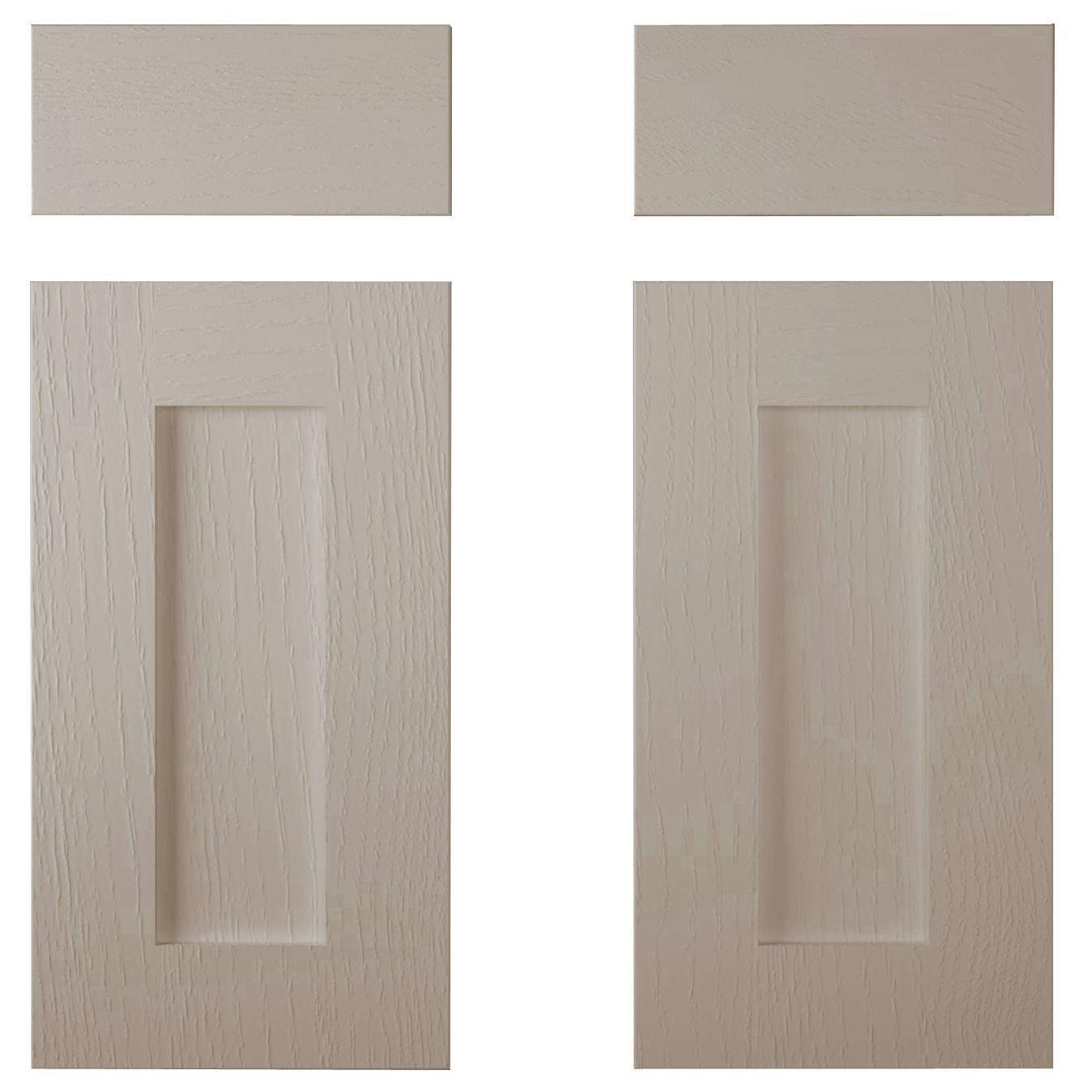 Cooke & Lewis Carisbrooke Taupe Corner Base Drawerline Door (w)925mm, Set Of 2