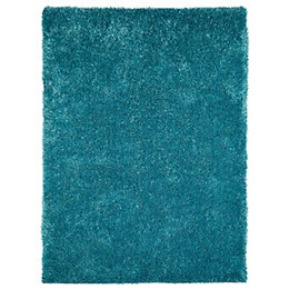 Colours Luino Teal Rug (L)1.6m (W)1.2m