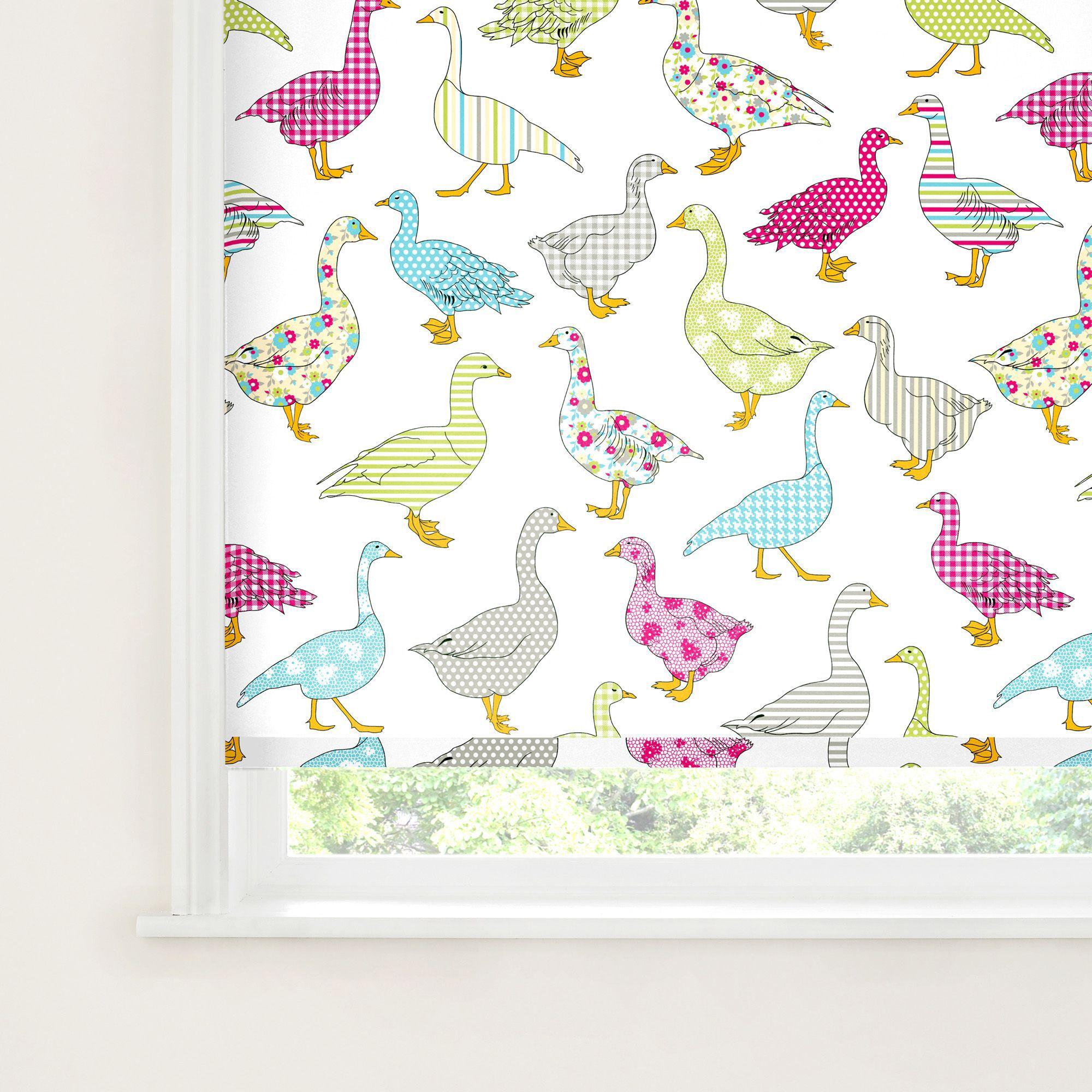 Bathroom Window Blinds B&Q colours nerine corded blue, pink & white roller blind (l)160 cm (w
