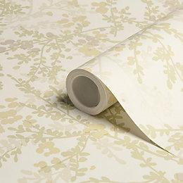 Colours Mayfield Green Floral Metallic Effect Wallpaper