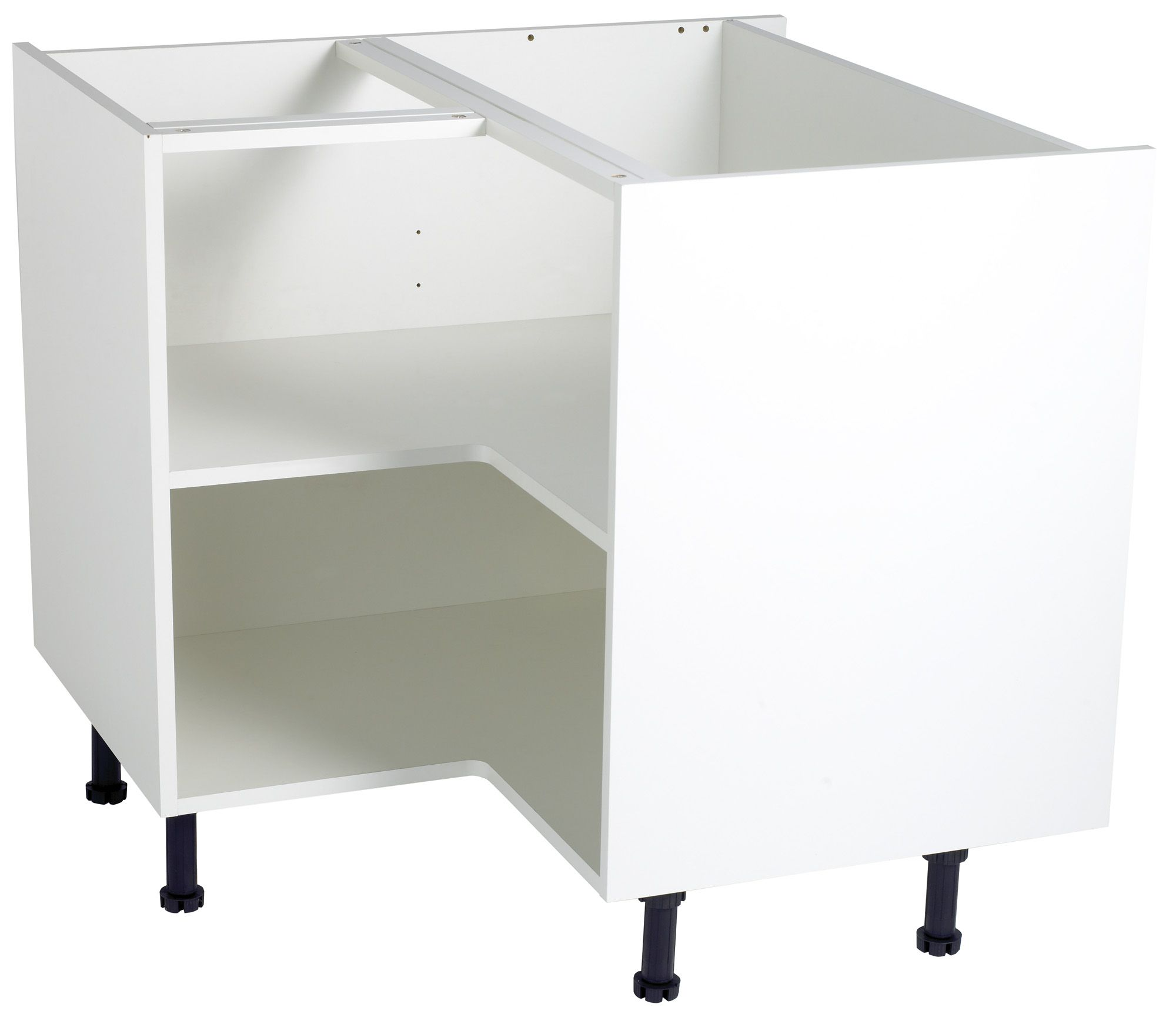 Cooke lewis white internal corner base unit carcass w for Carcass kitchen cabinets