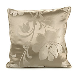 Caraway Floral Jacquard Gold Effect Cushion