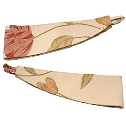 Colours Buttercup Cream, Orange & Red Floral Curtain