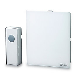 Blyss Wireless White Portable Door Chime