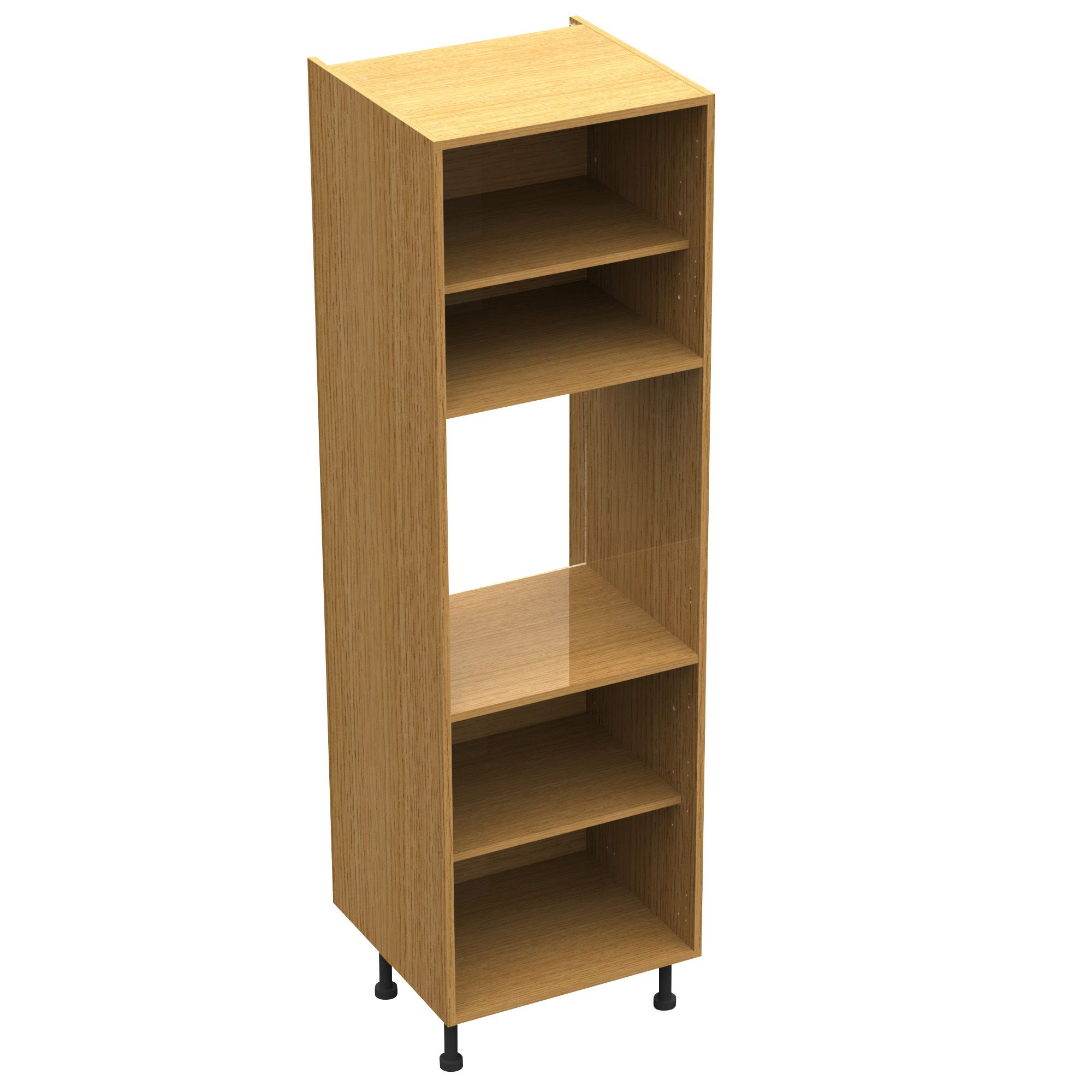 cooke lewis oak effect 50 50 shelf pack departments diy at b q. Black Bedroom Furniture Sets. Home Design Ideas
