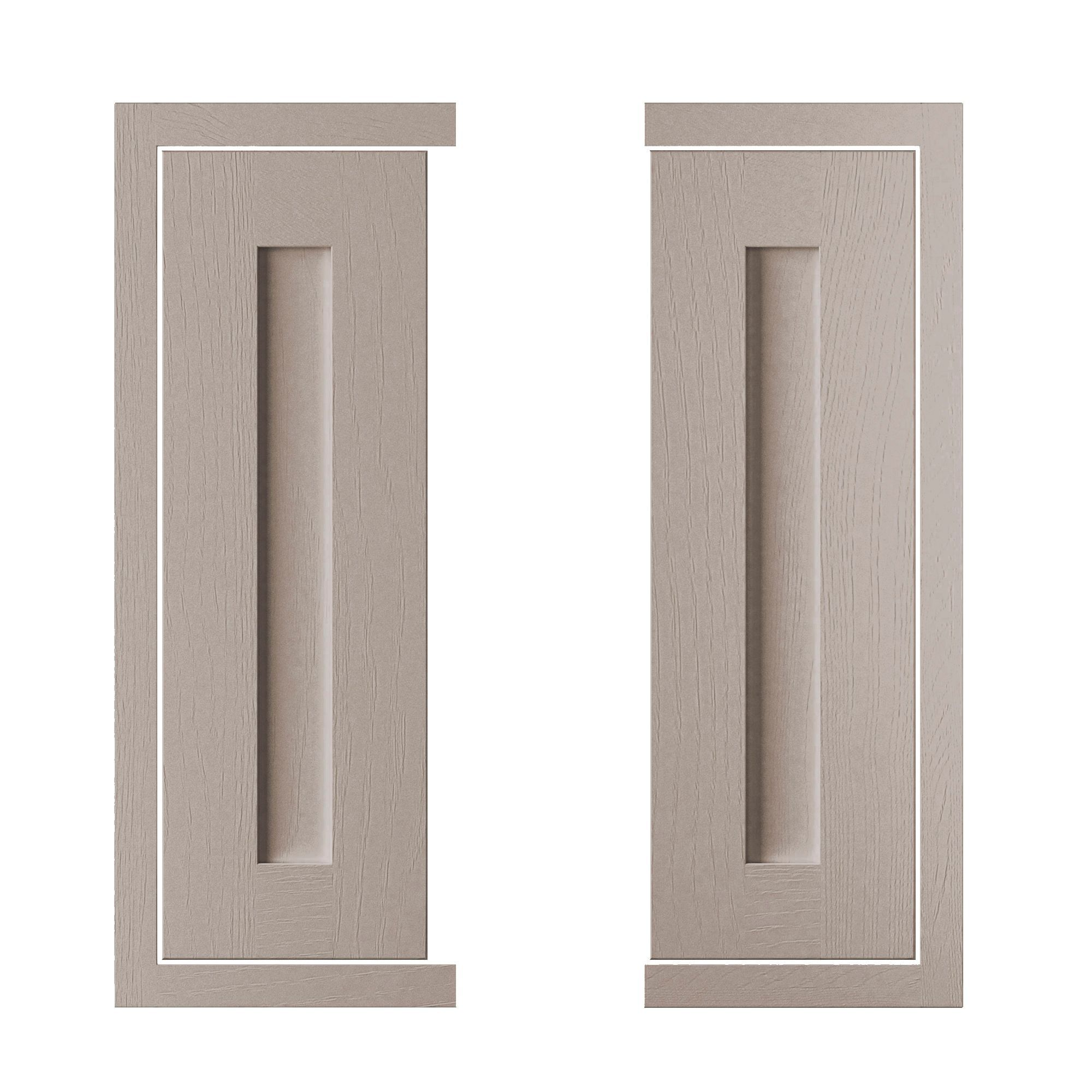 Cooke & Lewis Carisbrooke Taupe Framed Corner Wall Door (w)625mm, Set Of 2