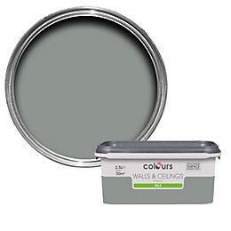Colours Cool Slate Silk Emulsion Paint 2.5L
