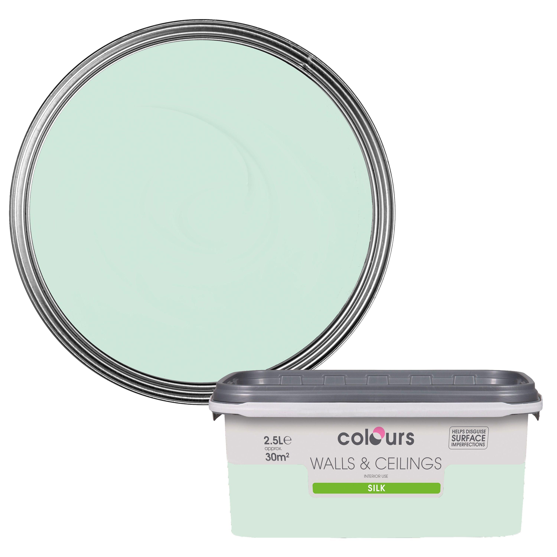 Colours Bathroom Eau De Nil Soft Sheen Emulsion Paint 2 5L