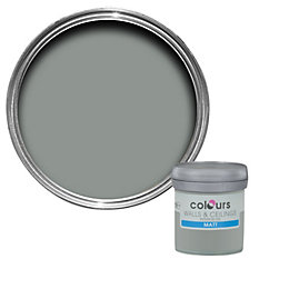 Colours Cool Slate Matt Emulsion Paint 50ml Tester