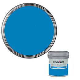 Colours Electric Blue Matt Emulsion Paint 50ml Tester