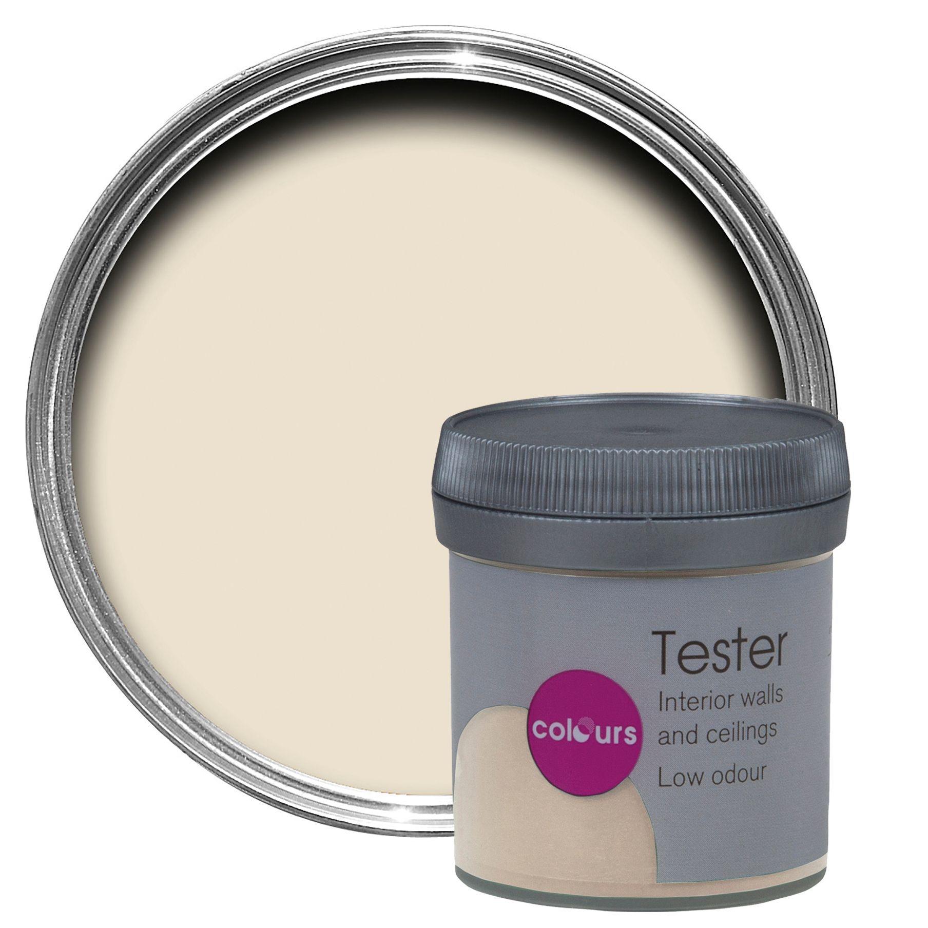 Colours Ivory Matt Emulsion Paint 50ml Tester Pot
