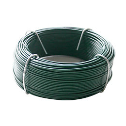 Gardman Plastic Coated Steel Garden Wire (L)50m (D)1.2mm