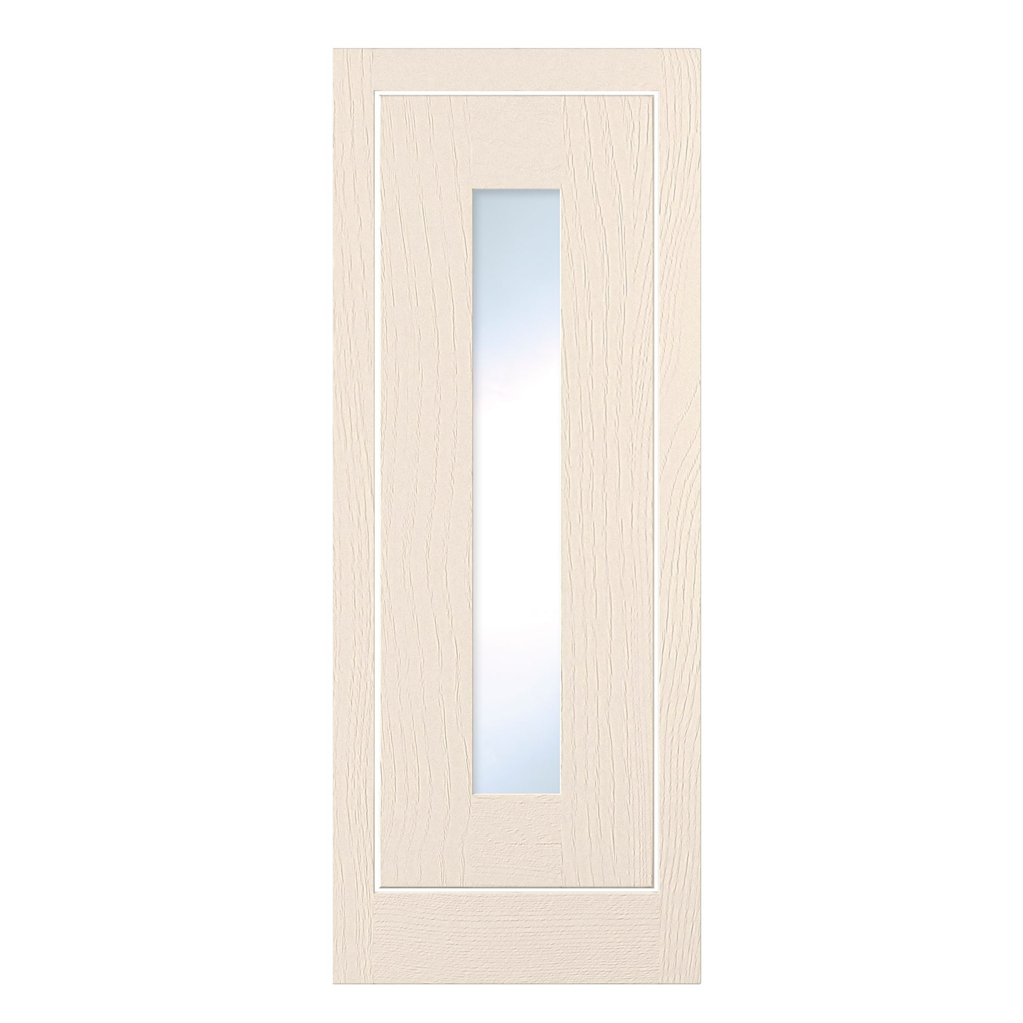 Cooke & Lewis Carisbrooke Ivory Framed Tall Glazed Door (w)300mm