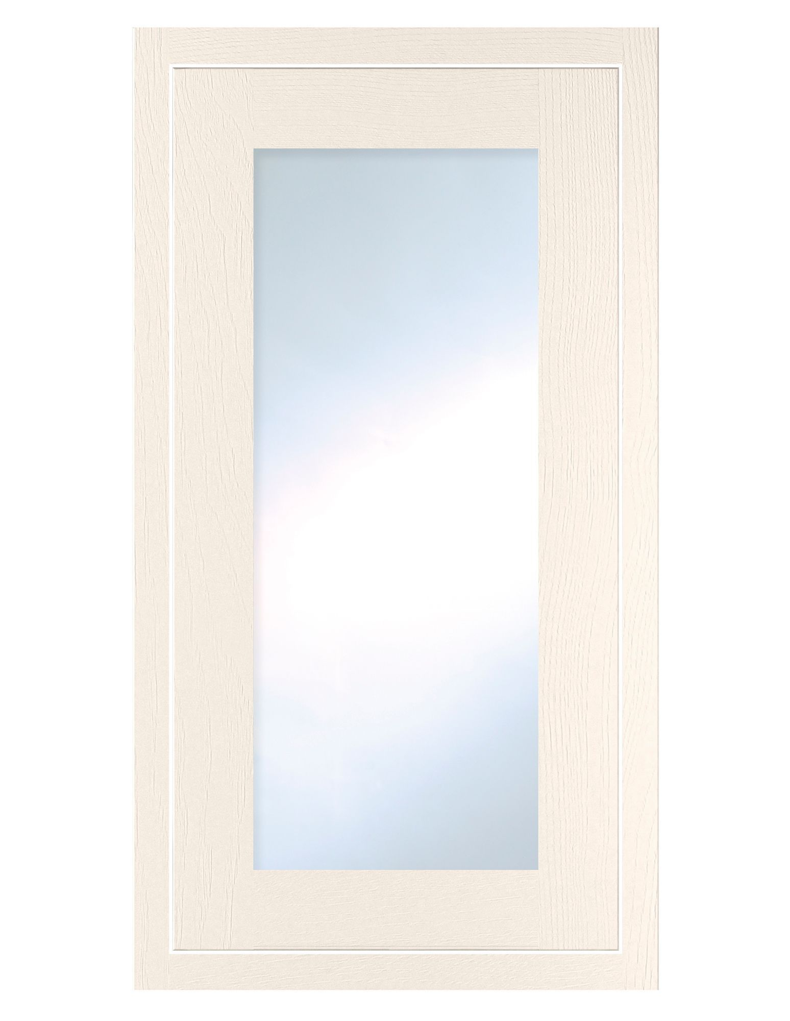 Cooke & Lewis Carisbrooke Ivory Framed Tall Glazed Door (w)500mm